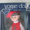 Vogue doll in box, red dress