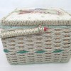 Wicker Sewing Box - green